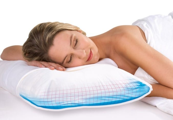 confort des oreillers eau