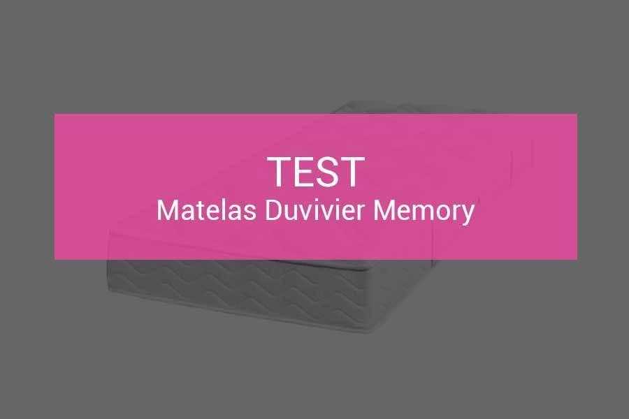 Test Et Avis Matelas Duvivier Memory 630 Ressorts Pour Un Prix Mini