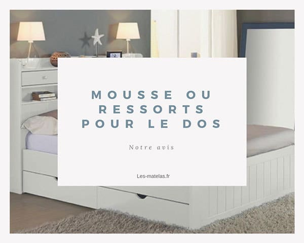 matelas mousse ou ressort pour le mal de dos notre avis. Black Bedroom Furniture Sets. Home Design Ideas