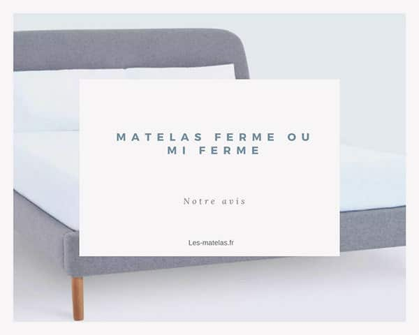 matelas ferme ou mi ferme et si on avait pas besoin de. Black Bedroom Furniture Sets. Home Design Ideas