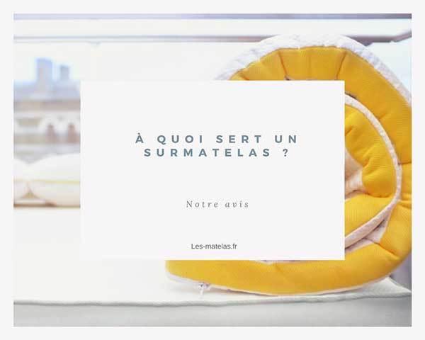 À quoi sert un surmatelas - les-matelas.fr