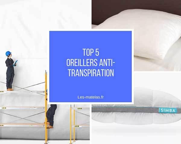 Comparatif meilleurs oreillers anti transpiration   Top 5 et avis