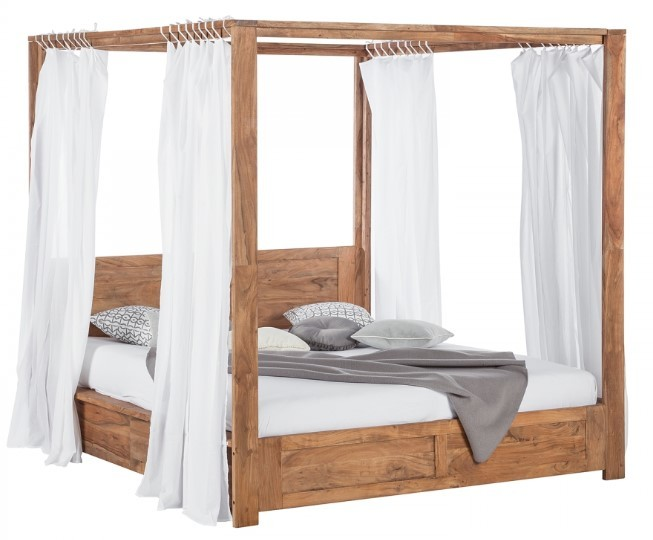 comparatif meilleurs lits baldaquin en bois massif ch ne manguier. Black Bedroom Furniture Sets. Home Design Ideas