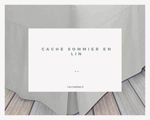Cache Sommier Lin