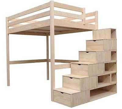 comparatif meilleurs lits mezzanines 2 places pour adultes. Black Bedroom Furniture Sets. Home Design Ideas