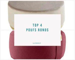 top4 poufs rond