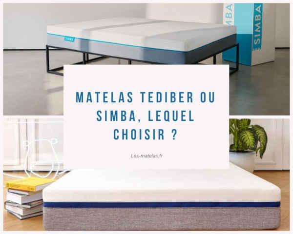 Matelas Tediber ou Simba, lequel choisir ?