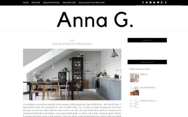 Top 20 blogs deco - anna g
