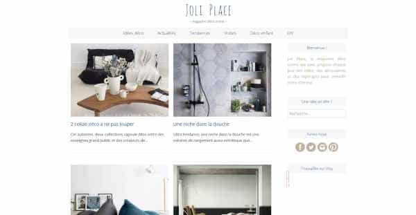 Top 20 blogs deco - joli place