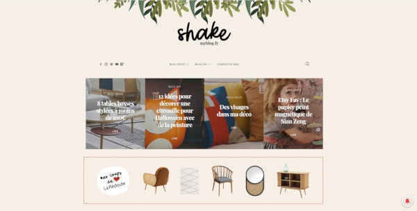 Top 20 blogs deco - shake my blog