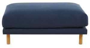 avis pouf rectangulaire modulable en coton et lin - Raoul