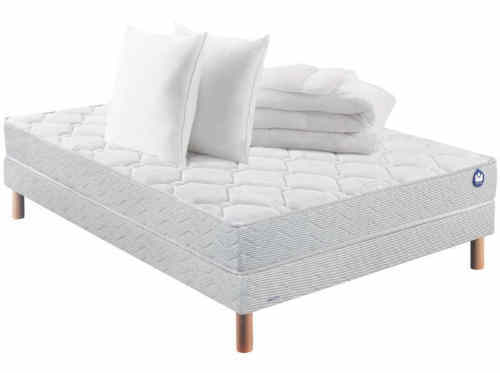 ensemble sommier + matelas 160 x 200 cm BULTEX RUNNER FULL PACK