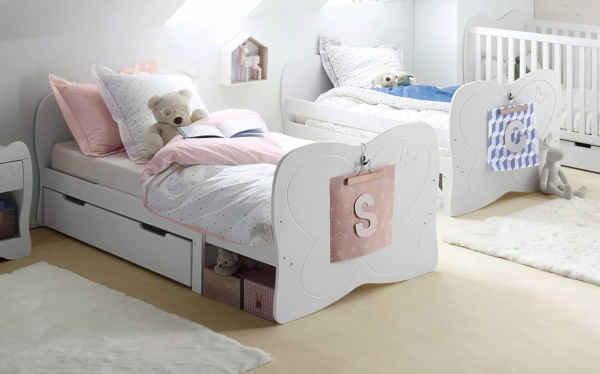 lit enfant avec barrière papillon verbaudet