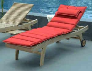 matelas pour bain de soleil teck attitude