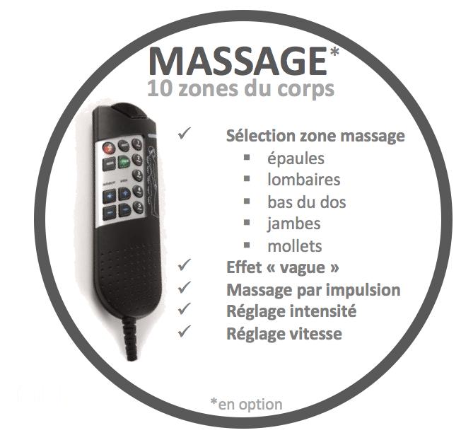 télécommande massage