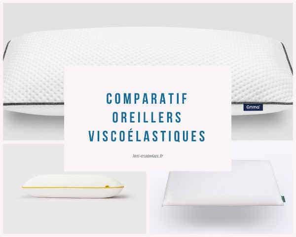 Comparatif oreillers viscoélastiques