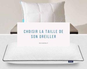 choisir la taille de son oreiller