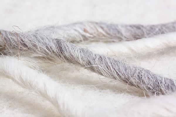 surmatelas en laine - matière organique