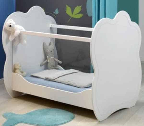Lit bébé sans barreau Plexiglas