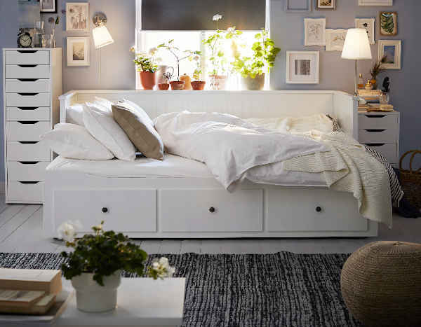 lit gigogne Ikea Hemnes