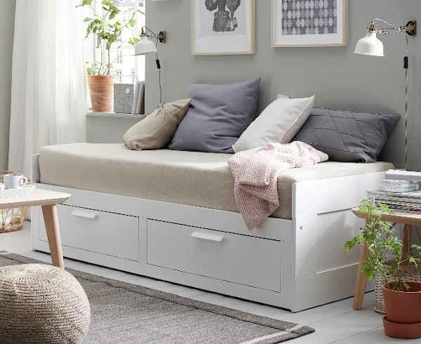 lit gigogne Ikea Brimnes