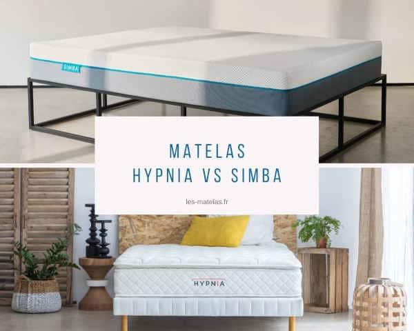 Match entre les matelas Hypnia et Simba