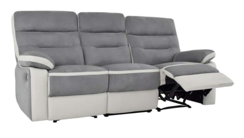 Avis prix meilleurs canapés relax électriques 3 places microfibre Princeton