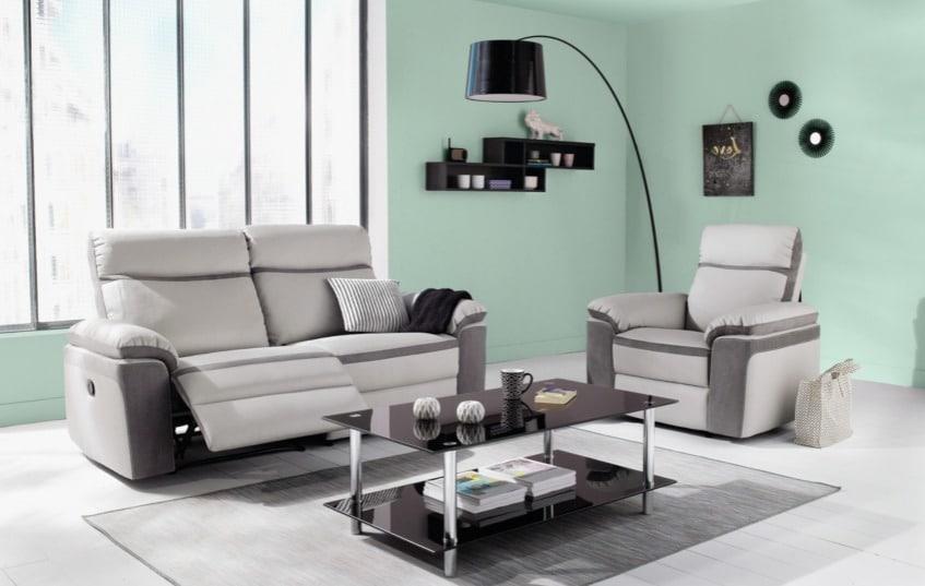 Avis prix meilleurs canapés relax électriques en microfibre 3 places Willy