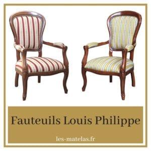 Avis fauteuils Louis Philippe