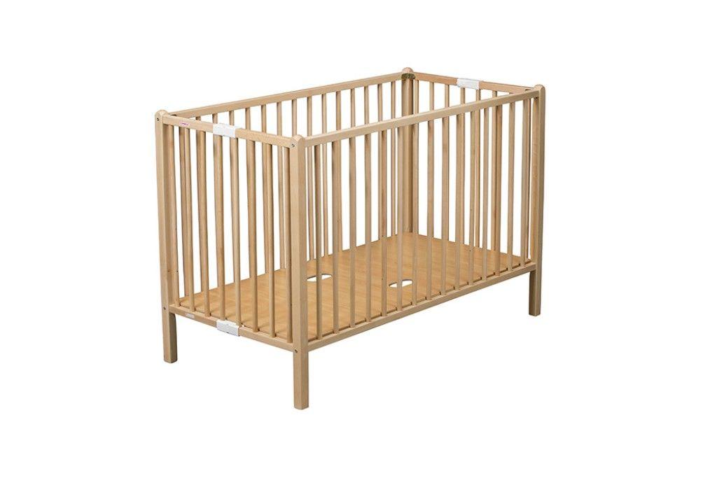 Lit bébé bois massif confortable fabrication française