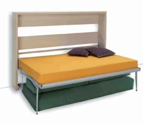 lit escamotable horizontal Houdini Slash déplié