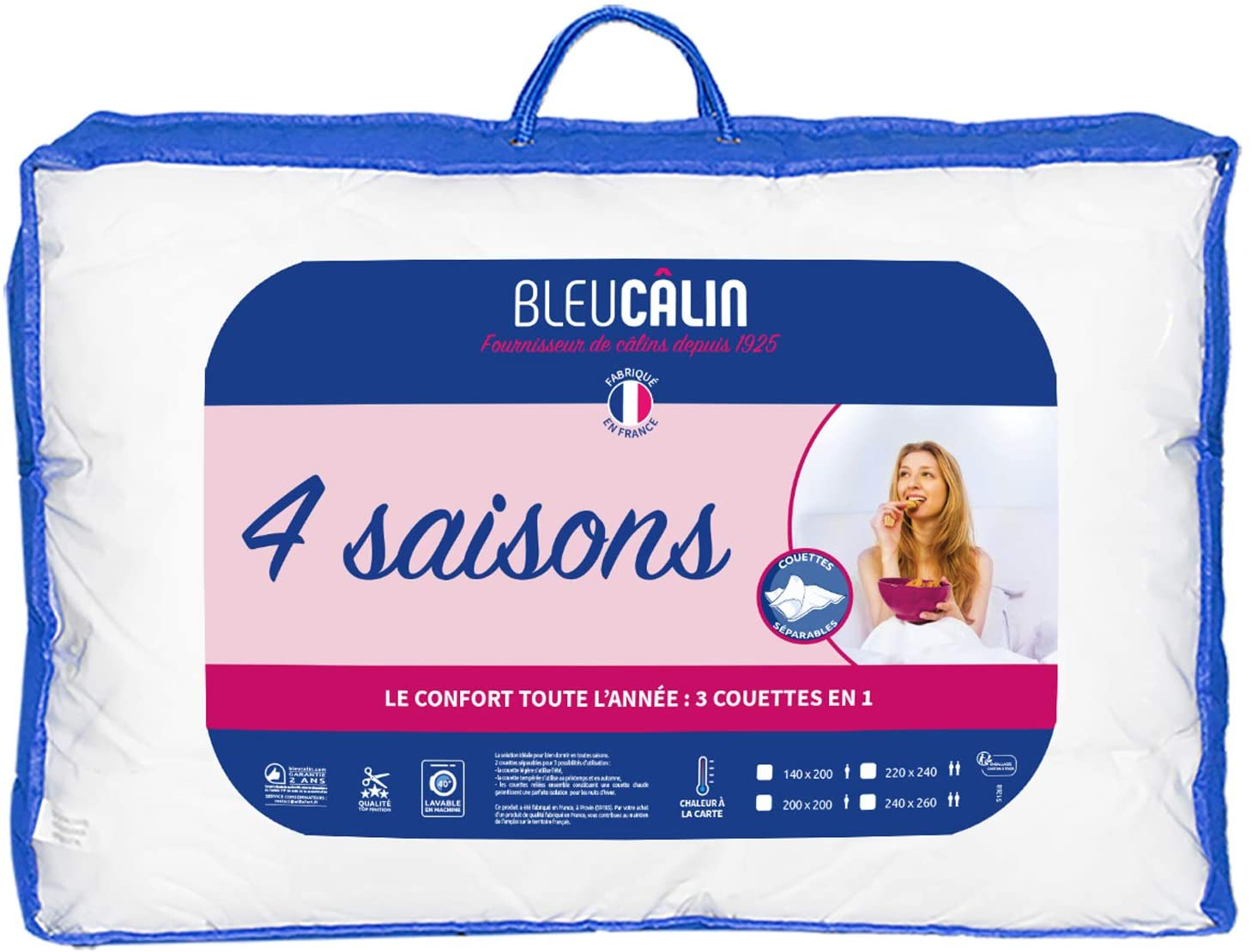 Comparatif couette Bleu Câlin